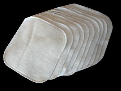 lingettes lavables b b chanvre coton bio lot de 10 comptoir du chanvre. Black Bedroom Furniture Sets. Home Design Ideas
